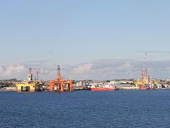 ノルウェーの油田基地