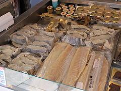 ノルウェーのベルゲンの魚市場