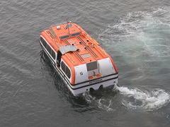 ザイデルダムのテンダーボート