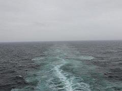 ザイデルダムから見た航跡
