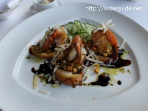 Grilled Prawn Bruschetta