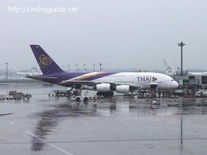 成田空港に駐機する飛行機