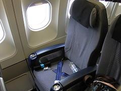 スカンジナビア航空sasのプレミアムエコノミーのシート