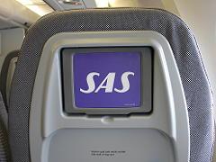 スカンジナビア航空sasのプレミアムエコノミーのシートモニター