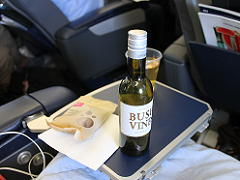 スカンジナビア航空のプレミアムエコノミーのアルコール