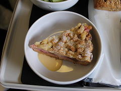 スカンジナビア航空のプレミアムエコノミーの機内食