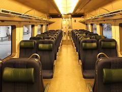 コペンハーゲンの電車内