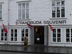 スタヴァンゲル港にあるお土産物屋さん