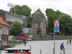 スタヴァンゲルの港近くの教会