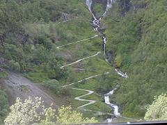 ノルウェーフロム鉄道から見た山
