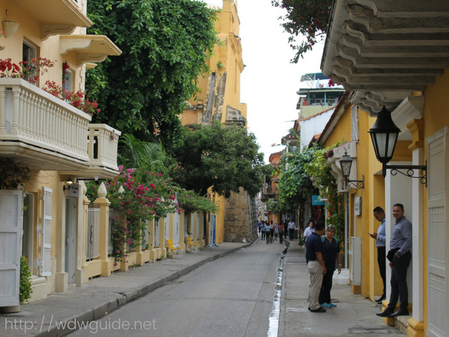 コロンビアのカルタヘナの旧市街
