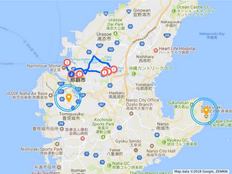 那覇の観光マップ