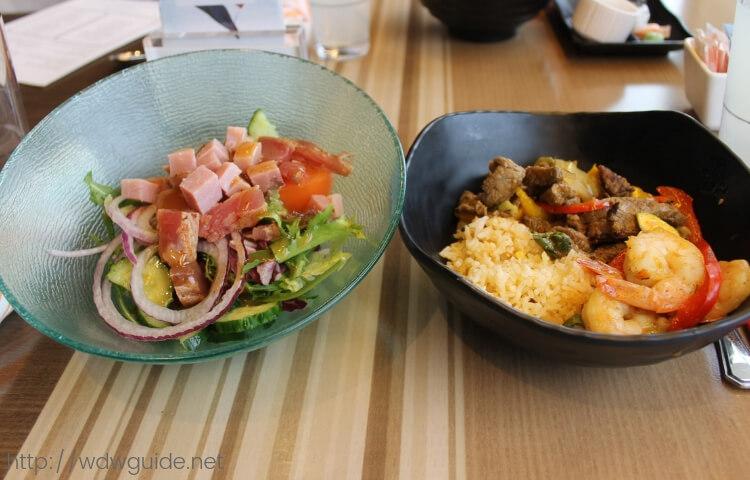ウエステルダムのリドのランチで食べた料理