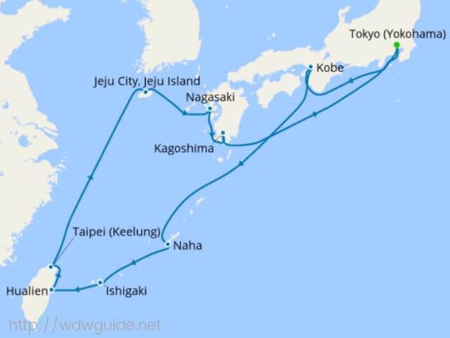 ウエステルダム 日本発着クルーズ航路