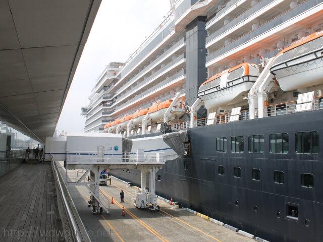 ウエステルダムへの乗船