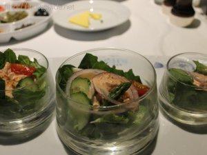 ウエステルダムのルディズ セルドゥメールの前菜のサラダ
