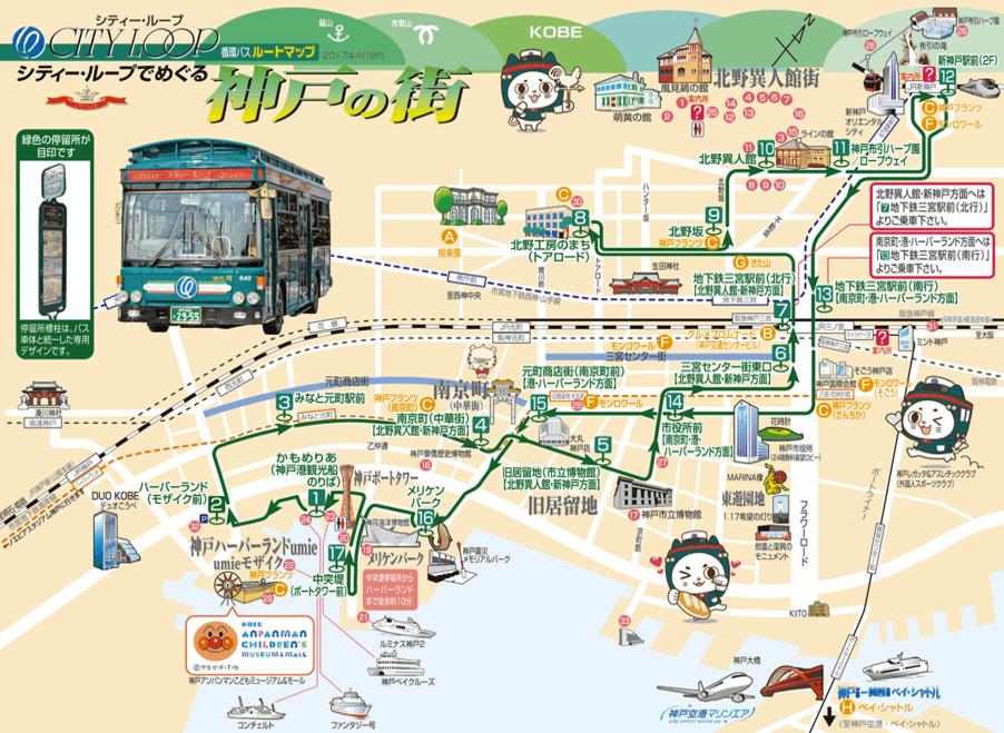 シティーループバスの路線図