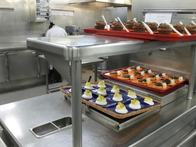 ウエステルダムのキッチンのデザートやパンなどを作るエリア
