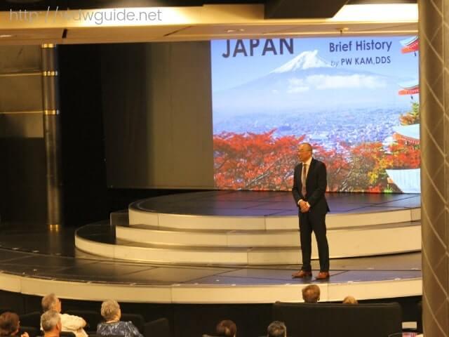 ウエステルダムのメインステージで行われた日本に関するプレゼン