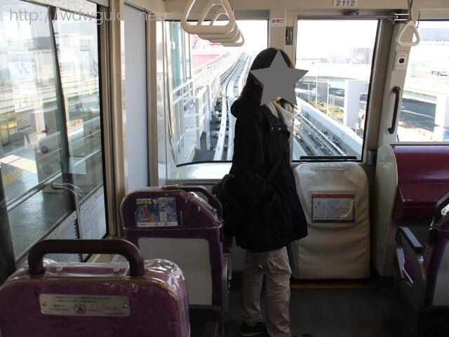 神戸ポートライナー車内