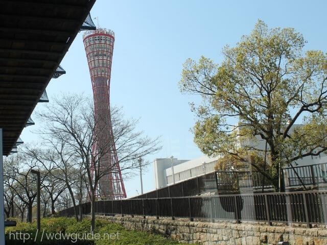 シティーループバス車内から見たポートタワー