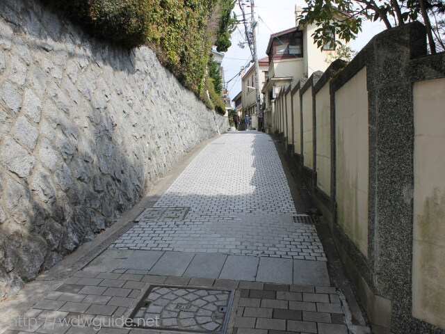 神戸異人館の坂道