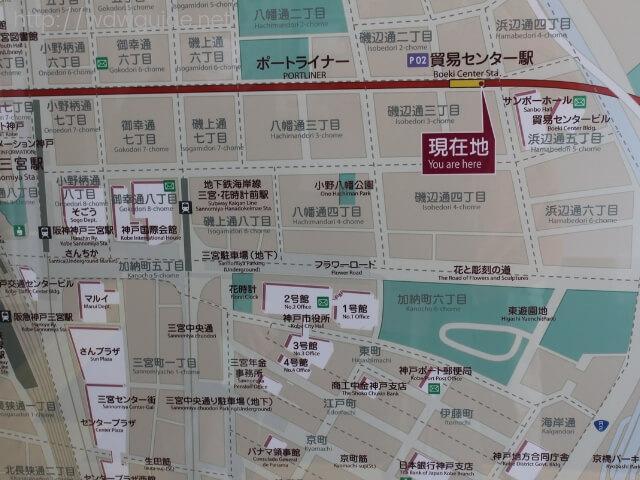 貿易センター駅周辺の地図
