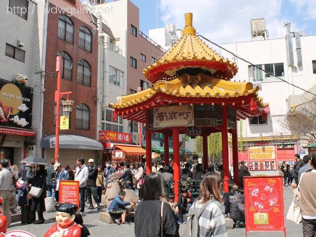 神戸南京町の広場