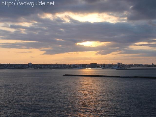 ウエステルダムから見た石垣島の海