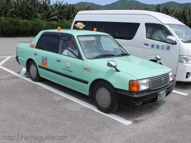 石垣島観光で利用したタクシー