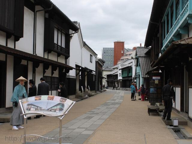 出島和欄商館跡の内部