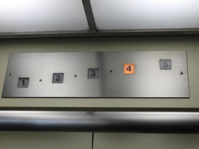 グラバースカイロードのエレベーター表示