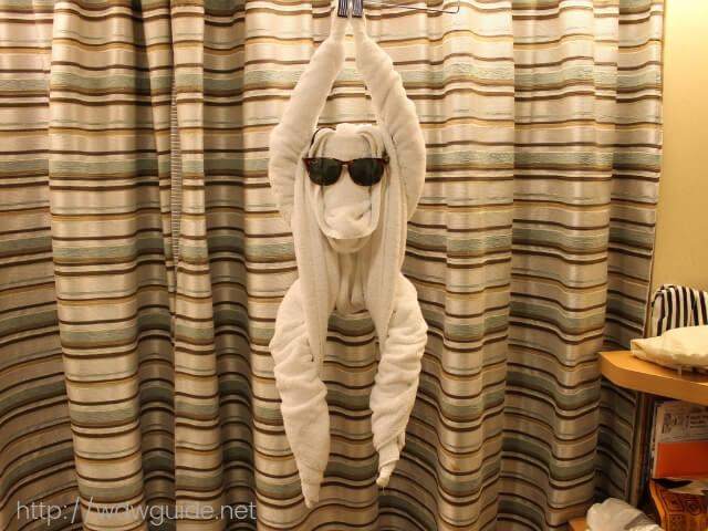 旦那が作ったタオルアートの猿