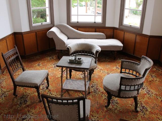 長崎のグラバー園にあるロバート・ニール・ウォーカーJrの旧邸内の応接室