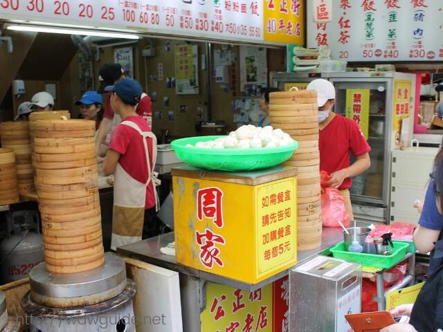 台湾・花蓮の小籠包の店先