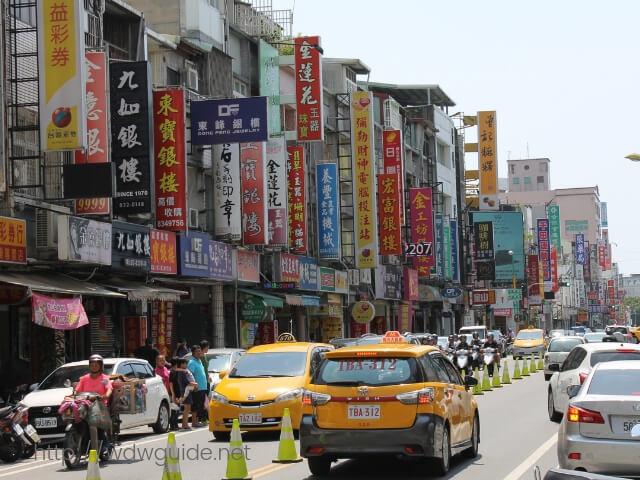 台湾の花連市内