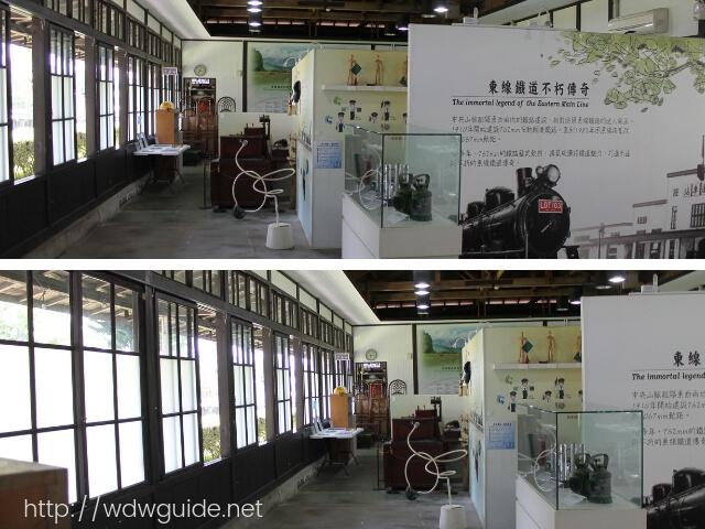 花連鐵道文化園区の鉄道の展示物