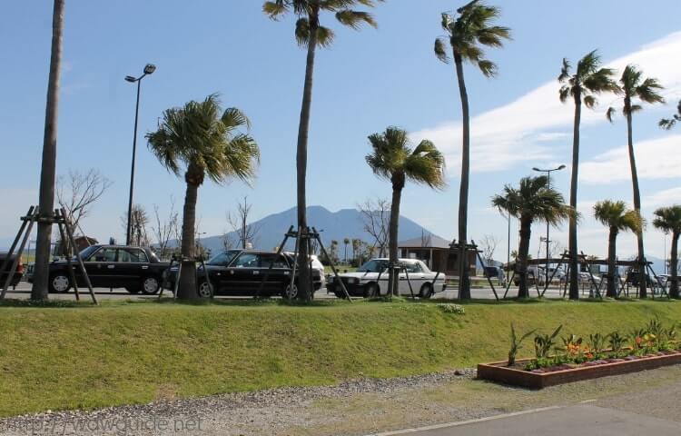 鹿児島港 マリンポートかごしまから見る桜島