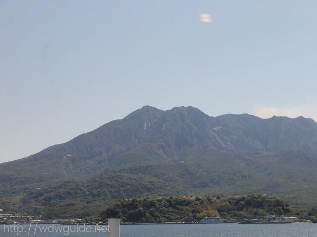 桜島フェリーから見た桜島