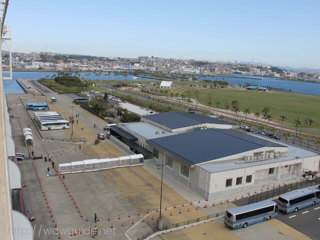 ウェステルダムから見た鹿児島港 マリンポートかごしま