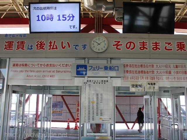 桜島フェリー乗り場