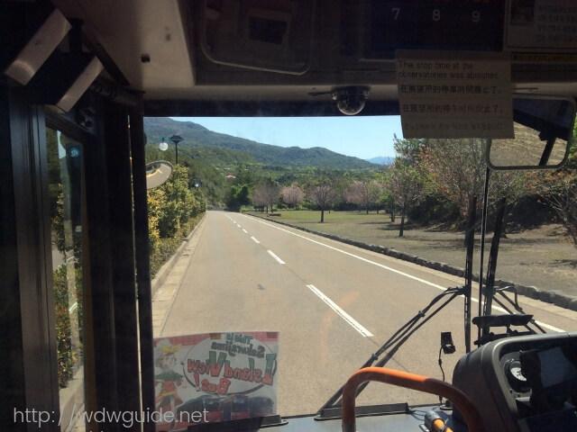 サクラジマアイランドビューバスの車内