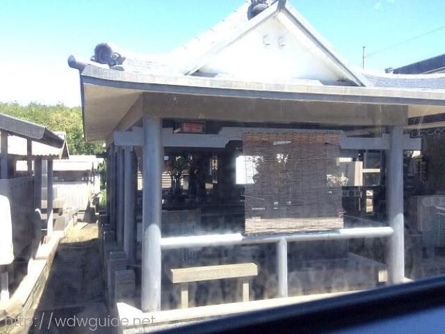 サクラジマアイランドビューバス車内から見た桜島のお墓
