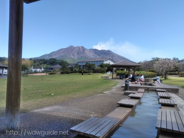 桜島マグマ温泉の足湯