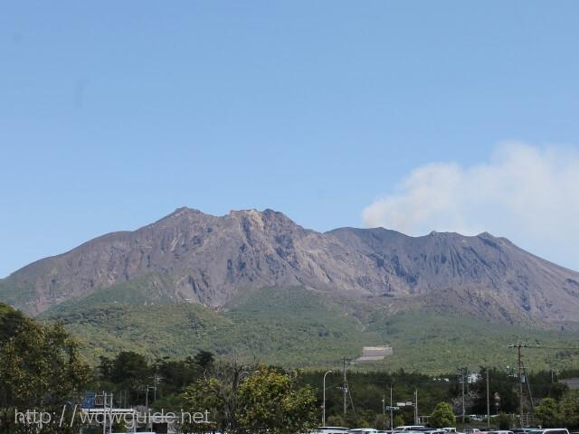 青空に映える桜島