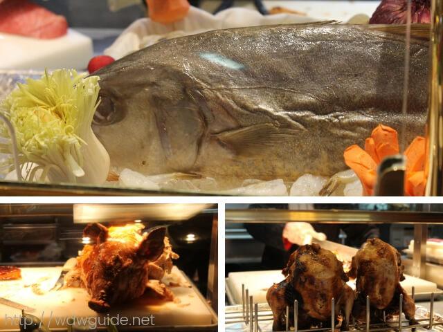 ウエステルダムのリドで行われたAsian Themed Dinnerの食材