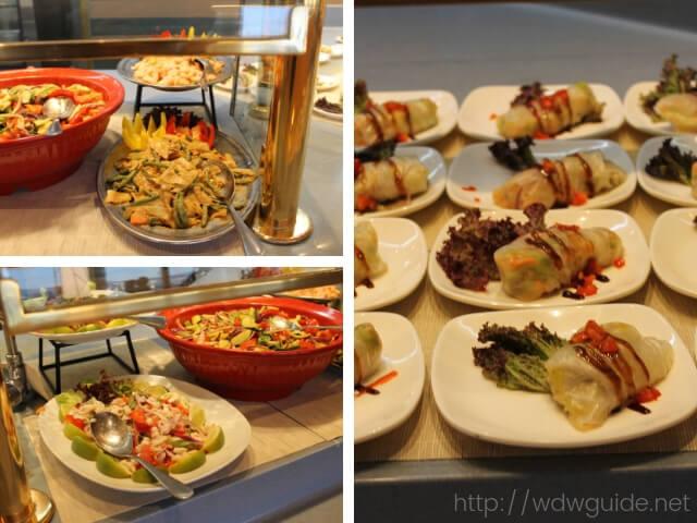 ウエステルダムのリドで行われたAsian Themed Dinnerで提供されたお料理