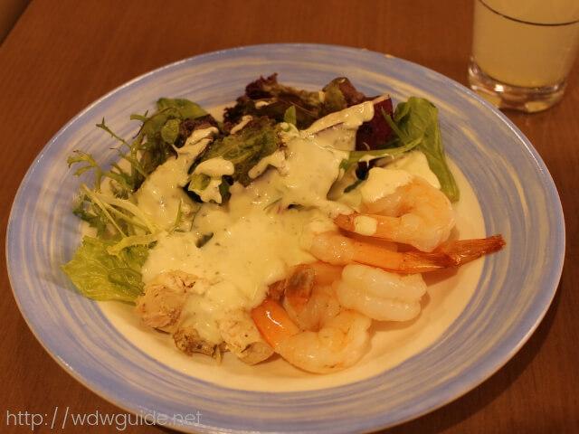 ウエステルダムのリドで行われた夜食で食べたサラダ