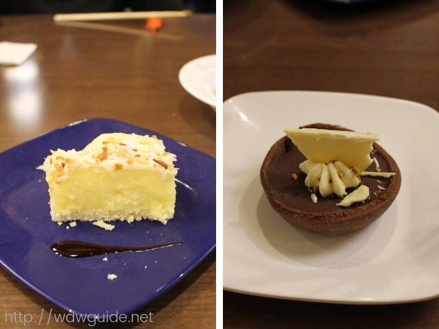 ウエステルダムのリドで行われたAsian Themed Dinnerで食べたデザート