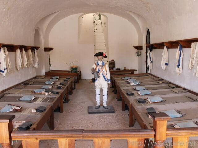 プエルトリコのサンフアンにあるサンクリストバル要塞の展示